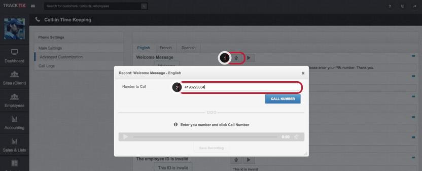 Recording Custom Messages as Menu Options