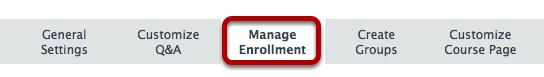 Click Manage Enrollment.