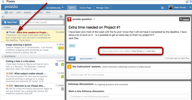 Example of how the question is displayed in the instructor's view: