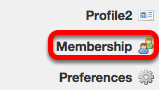 Go to Membership (located on your My Workspace site).