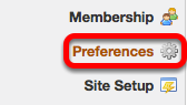 Go to Preferences (on your Workspace site).