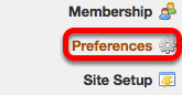 Go to Preferences (on your My Workspace site).