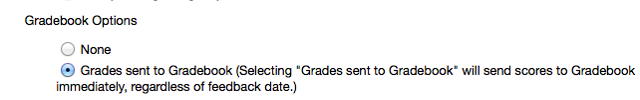 Grading Section -  Gradebook Options: