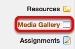 To add media to the Site Library, click on Media Gallery in the left tool panel.