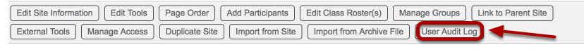 Click User Audit Log