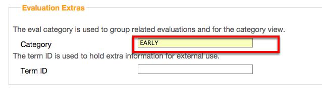 Set Evaluation Extras (Optional)