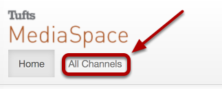 "After logging in, click ""All Channels"""