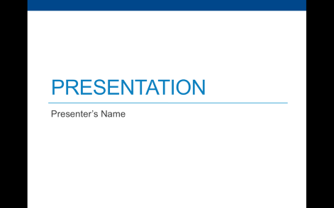 Immediately open your Powerpoint file. Deliver your presentation in full-screen mode.