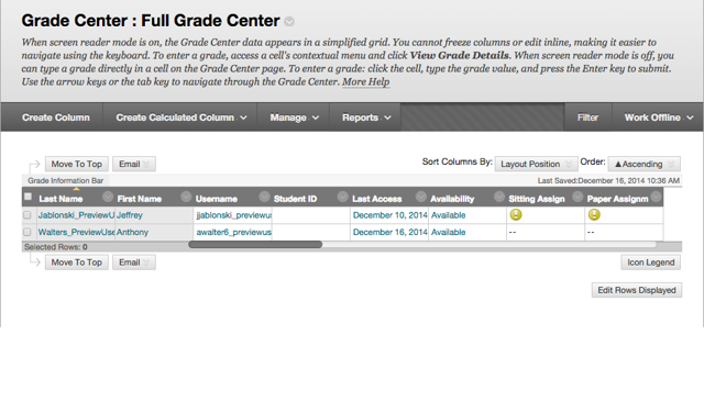 Access the Full Grade Center