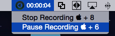 The Pause Recording feature is highlighted