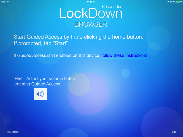 Using the iPad Edition of Lockdown Browser