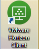 Image of the VMware Horizon client desktop shortcut