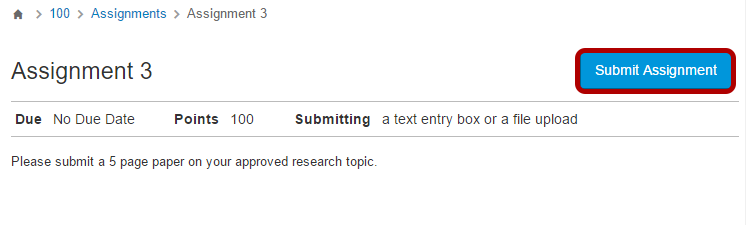 Click the Submit Assignment button.