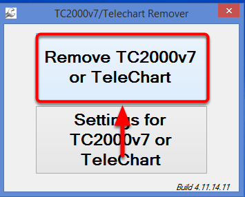 6. Select Remove TC2000v7 or TeleChart.