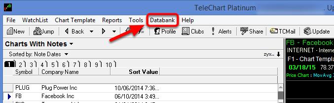 2. Select Databank.