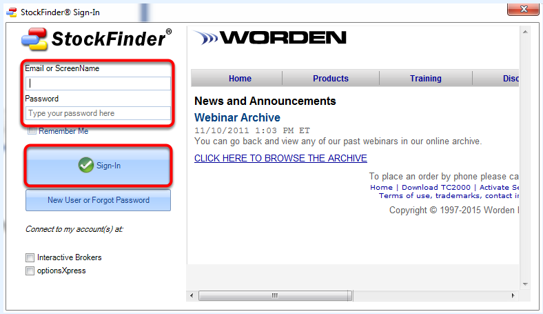 7.  Enter your UserName or E-mail and Password then click Sign-In.