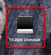 4. Double click the TC2000 Uninstall icon on your desktop.