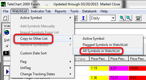 11.  Select Copy to Other List - All Symbols in Watchlist.