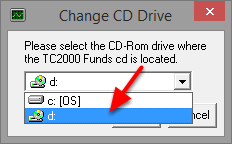 6. Click the drive letter associated with your CD-Rom Drive.
