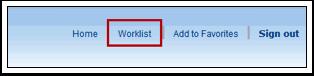 Worklist link