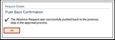 Push Back Confirmation