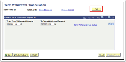 Term Withdrawal Cancellation