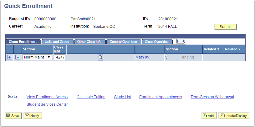 Quick Enrollment