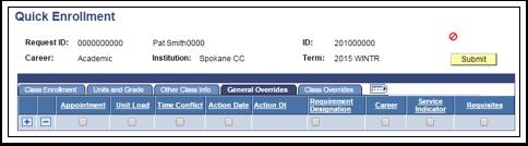 Quick Enrollment page