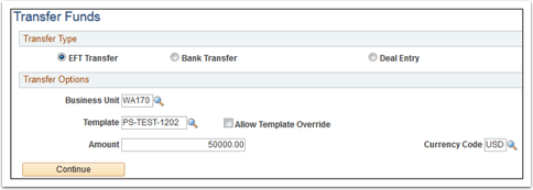 Transfer Funds