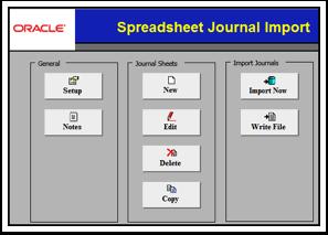 Spreadsheet Journal Import