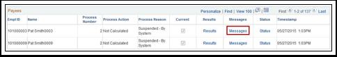 Payee Processing Status