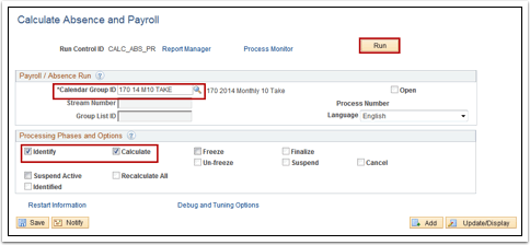 Calculate Absence and Payroll