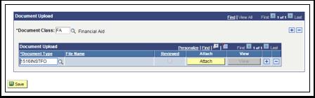 Document Upload Attach button