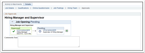 Hiring Manager and Supervisor Details