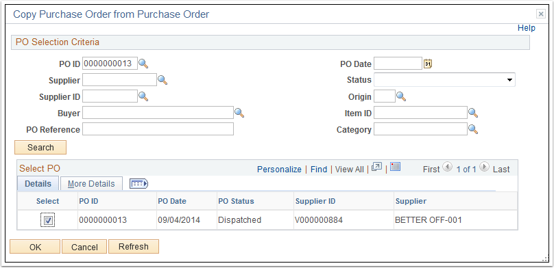 Copy Purchase Order from Purchase Order