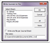 Write Journals to File
