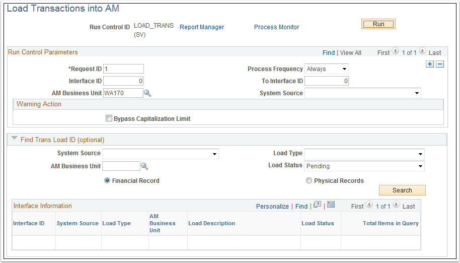 Load Transactions into AM