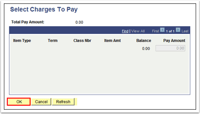 Select Charges To Pay
