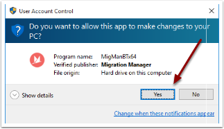 Allow the UAC prompt