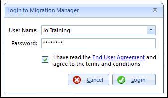 Login to Migration Manager