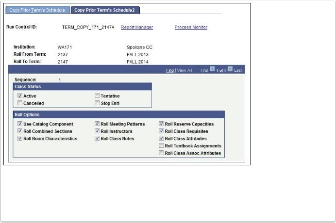 Copy Prior Term's Schedule 2 tab