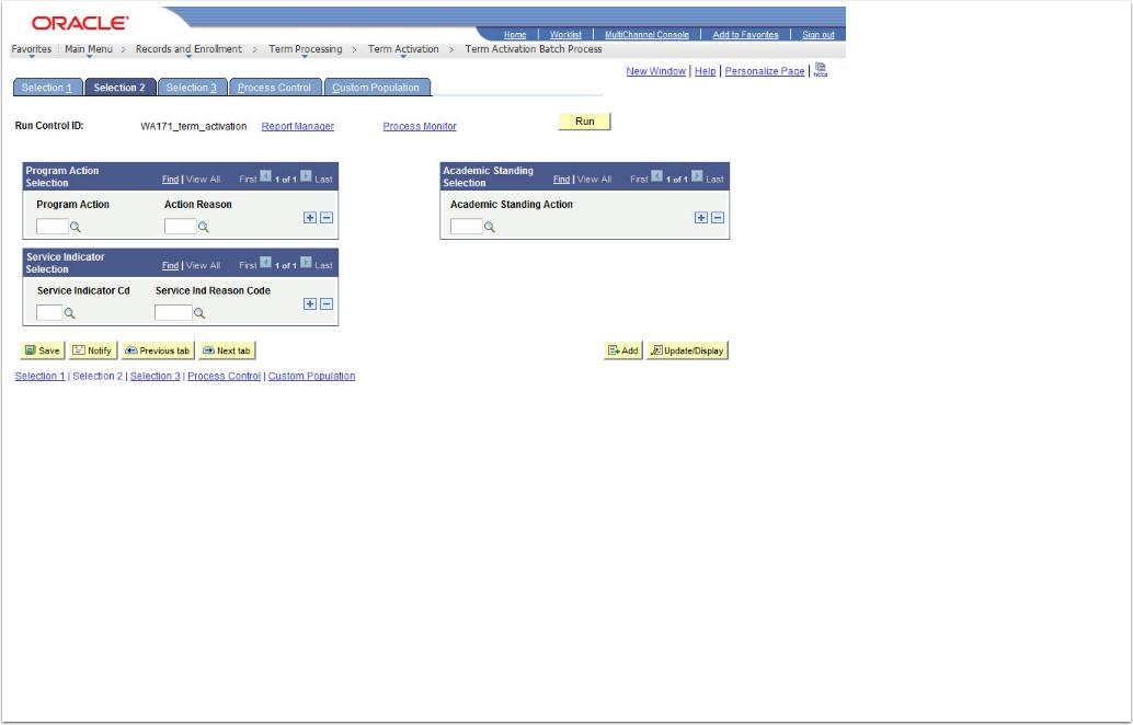 Selection 2 tab