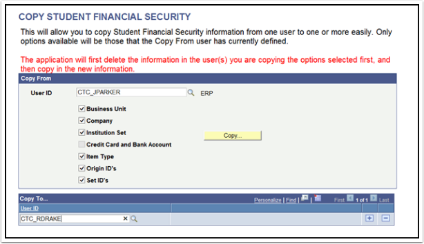 Copy Student Financial Security