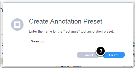 Name annotation preset