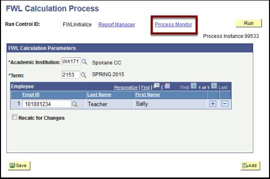 FWL Calculation Process