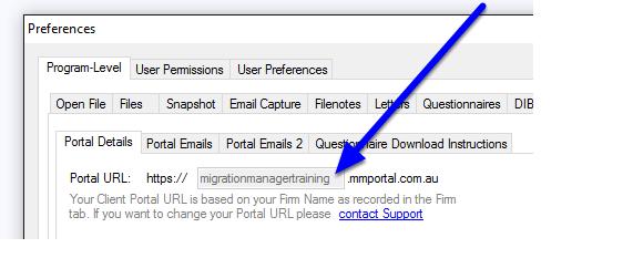 Check the Portal URL