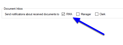Specify who will receive the downloaded documents - Document Inbox