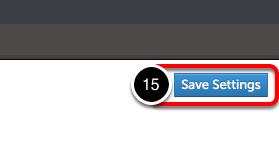 Step 5: Save Settings