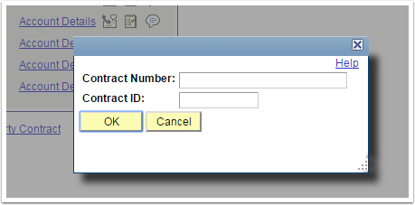 Contract Number and ID fields