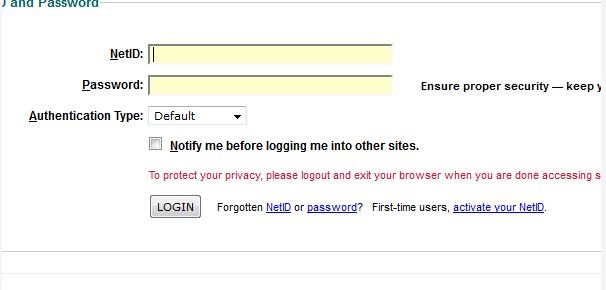 Log into Blackboard at rutgers.blackboard.com using your Rutgers NetID and password.